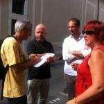 Vert, socialiste et AGT avec le rédacteur de la Tribune de Genève. © Maryelle Budry