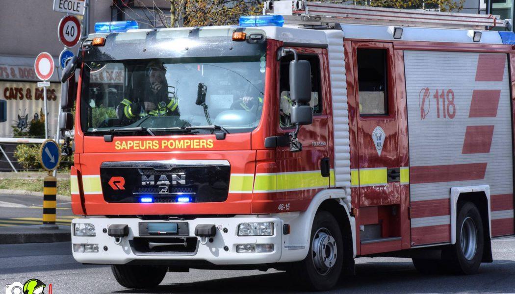 Incendie dans un immeuble de Thônex