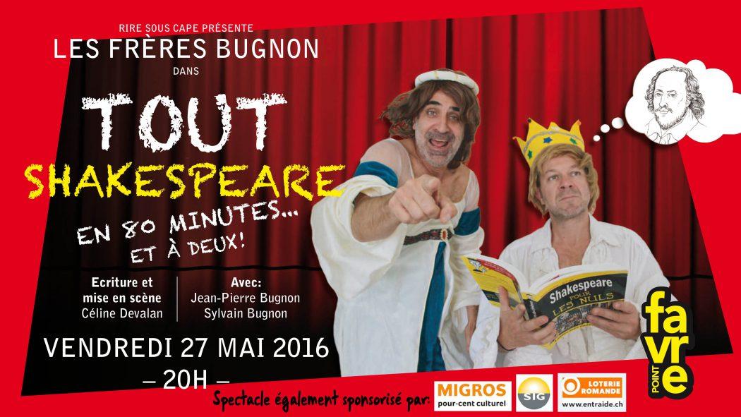 tout Shakespeare en 80 minutes… et à deux!