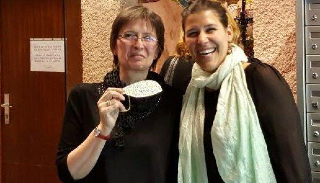 Avec la maire de Carouge, lors de l'inauguration. © Maryelle Budry