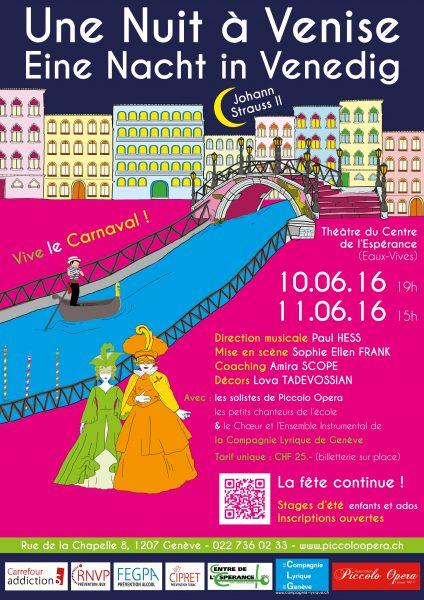 Spectacle » Une Nuit à Venise » de Johann Strauss II
