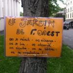 Exemple de guerrillas florales et potagères clandestines à Genève. © Maryelle Budry