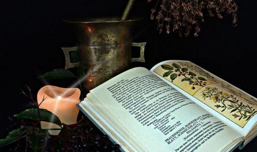 Un grimoire dédié à la thérapie par les plantes. © DR