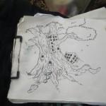 Le dessin d'Evo avant le graff; Funky Fresh © N.D.M.S