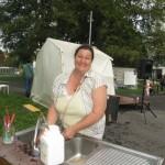 Jo, habitante du quartier et initiatrice de l'événement Funky Fresh aux Familia! © N.D.M.S