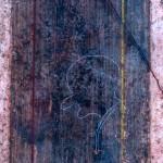 Ici, un exemple connu d'un graffito pompéien : « Rufus est » : « Voici Rufus » © Nathaly de Morawitz-Schorpp