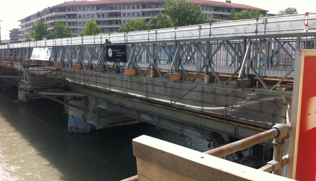 Le pont de Carouge en rénovation. © Maryelle Budry