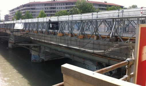 Le pont de Carouge en rénovation. © Maryelle Budry