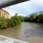 Vue sur l'Arve et le Salève depuis le pont de Carouge. © Maryelle Budry