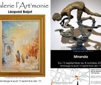 Exposition Miranda, L. Baijot et I. Semkov à l'Art'monie