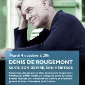 Denis de Rougemont : conférence donnée par M. François Saint-Ouen