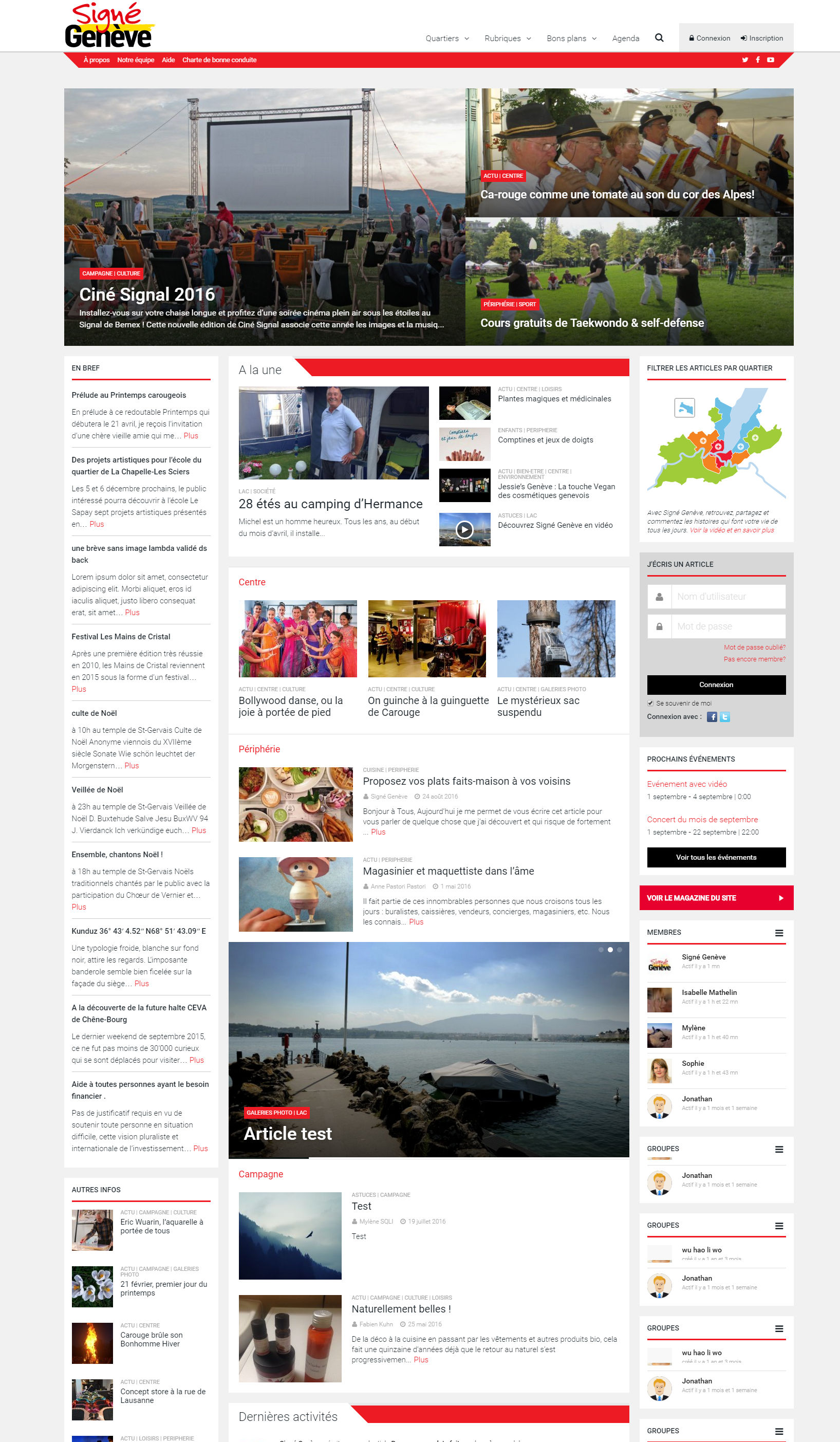 Homepage Signé Genève