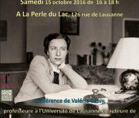 Conférence de Valérie Cossy à la Perle du Lac
