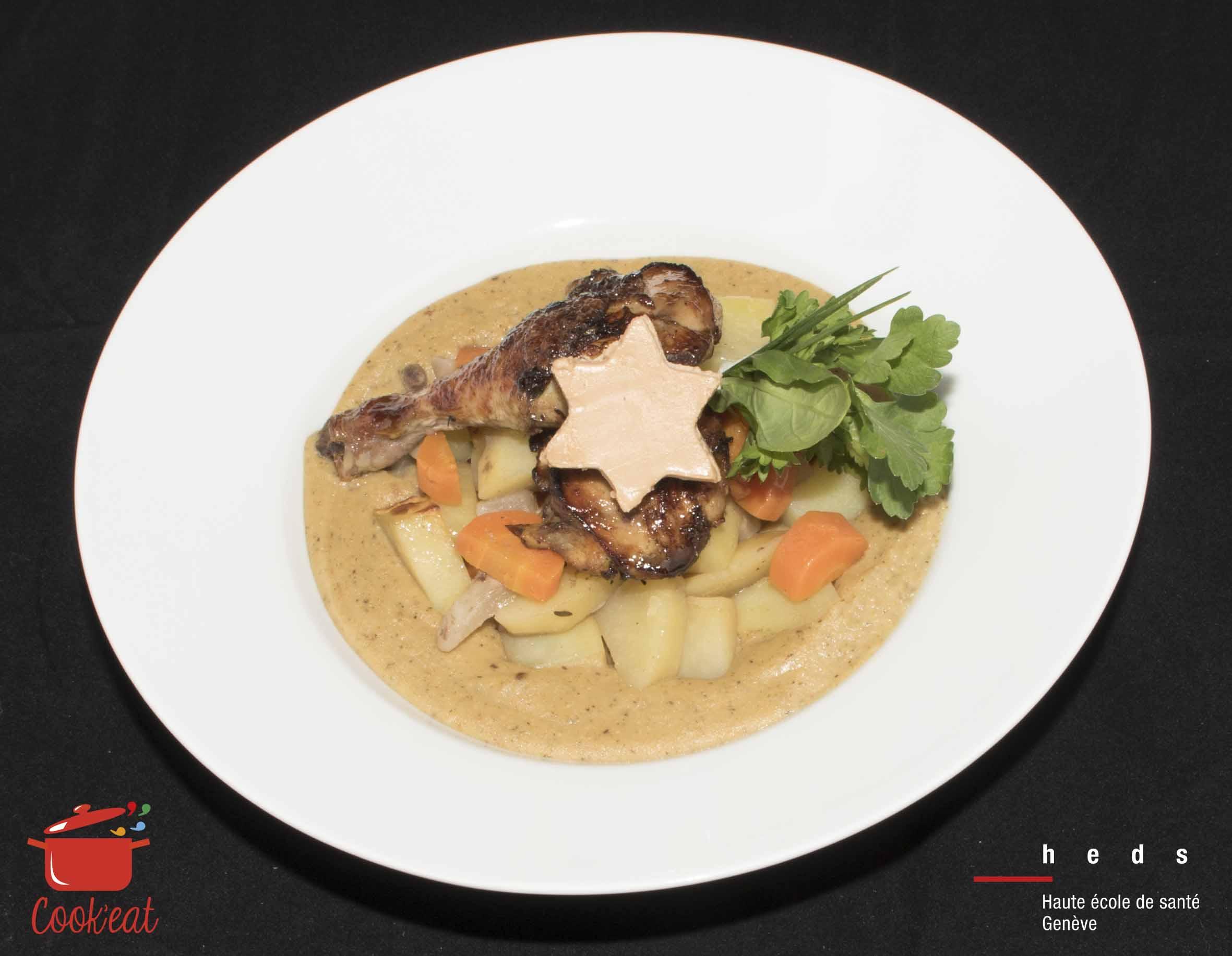 Mijoté de pintade au foie gras - HEdS 2016
