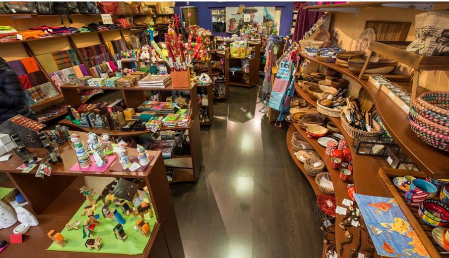 """La boutique de commerce équitable """"Indigo"""" à la rue de Carouge"""