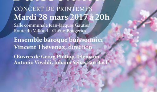 Concert de Printemps 2017 – Orchestre Buissonnier