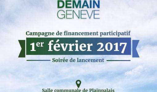 «Demain Genève» FILM – Lancement de la campagne de crowdfunding