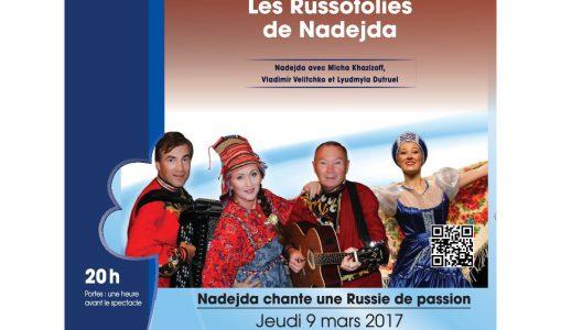 Les Russofolies de Nadejda. Concert : chansons et ambiance russes à Thônex