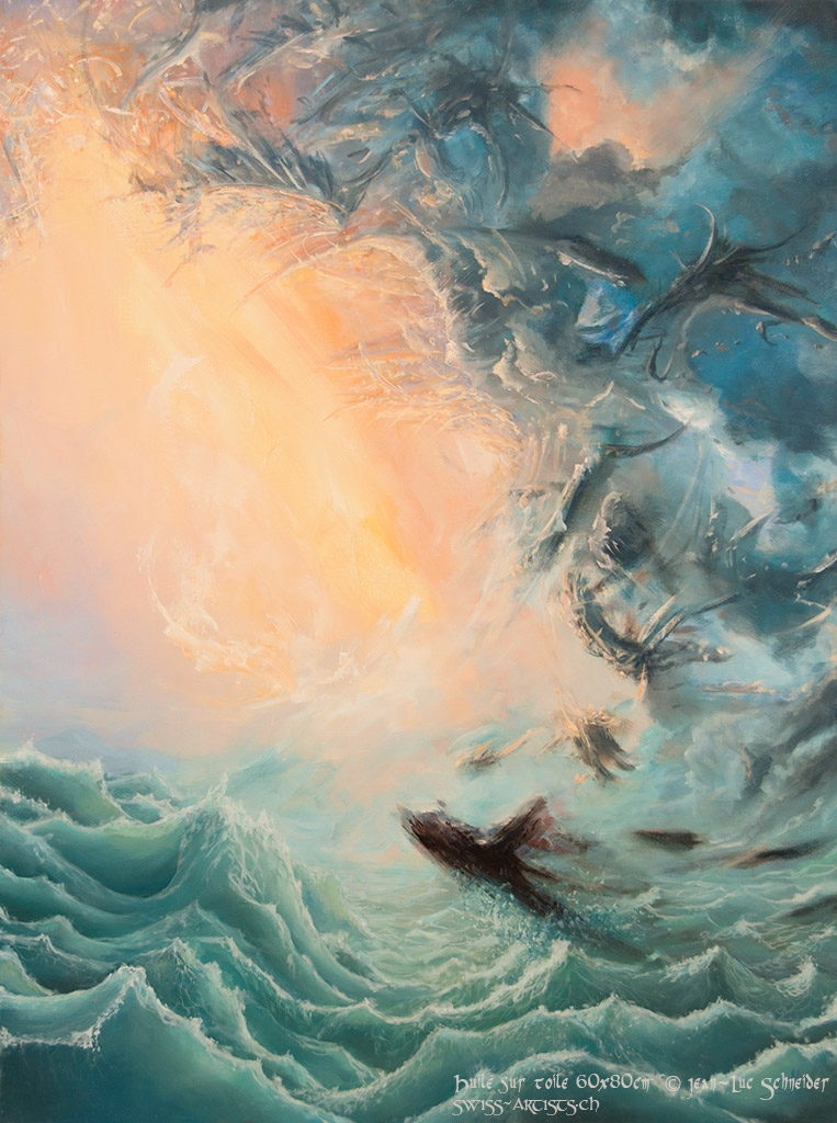 Emergence Huile sur toile 80 x 60 cm  Jean-Luc Schneider