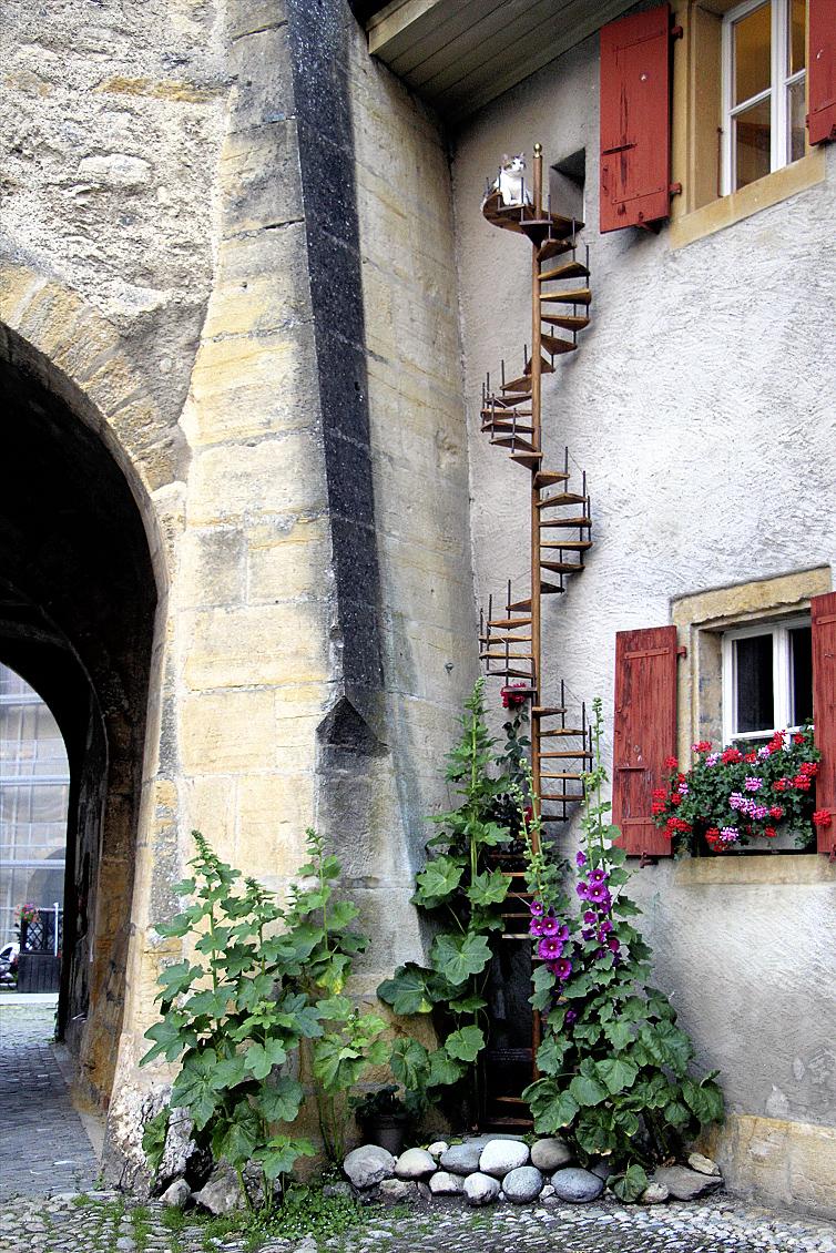 L'escalier d'Eliott.© Delphine André