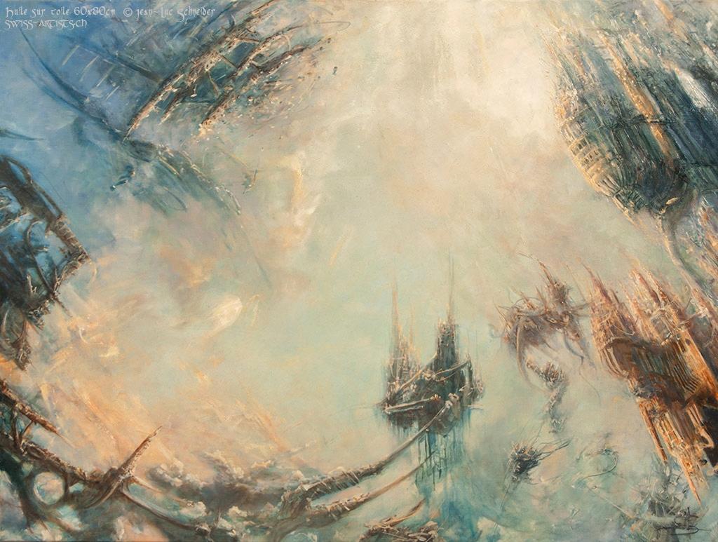 Les tours de Levitos  Huile sur toile 60 x 80 cm Jean-Luc Schneider