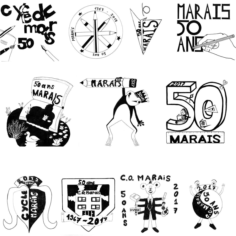 l'ensemble des logos présentés au concours - photo J-Y Genoud
