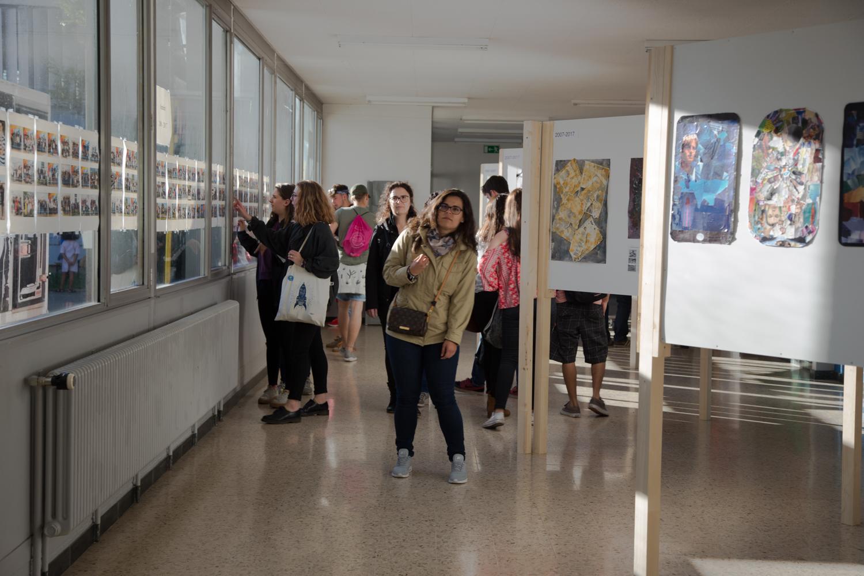 L'exposition de dessins d'élèves