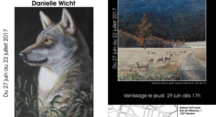 Exposition des artistes Danielle Wicht & Cyril de Chambrier à la Galerie l'Art'monie