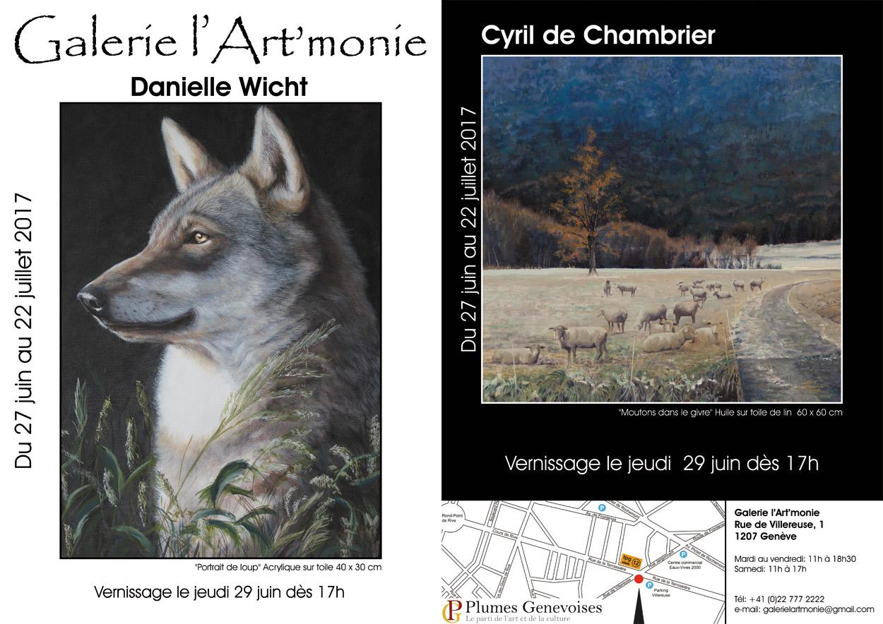 Invitation à l'exposition des artistes Danielle Wicht et Cyril de Chambrier