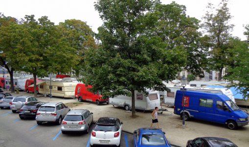 Des caravanes de KNIE dans les hauts des Eaux-Vives !