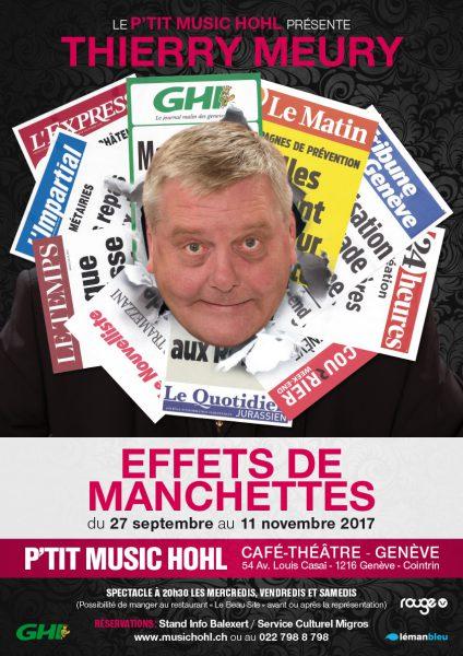 «Effets de manchettes» de et avec Thierry Meury au P'tit Music'Hohl