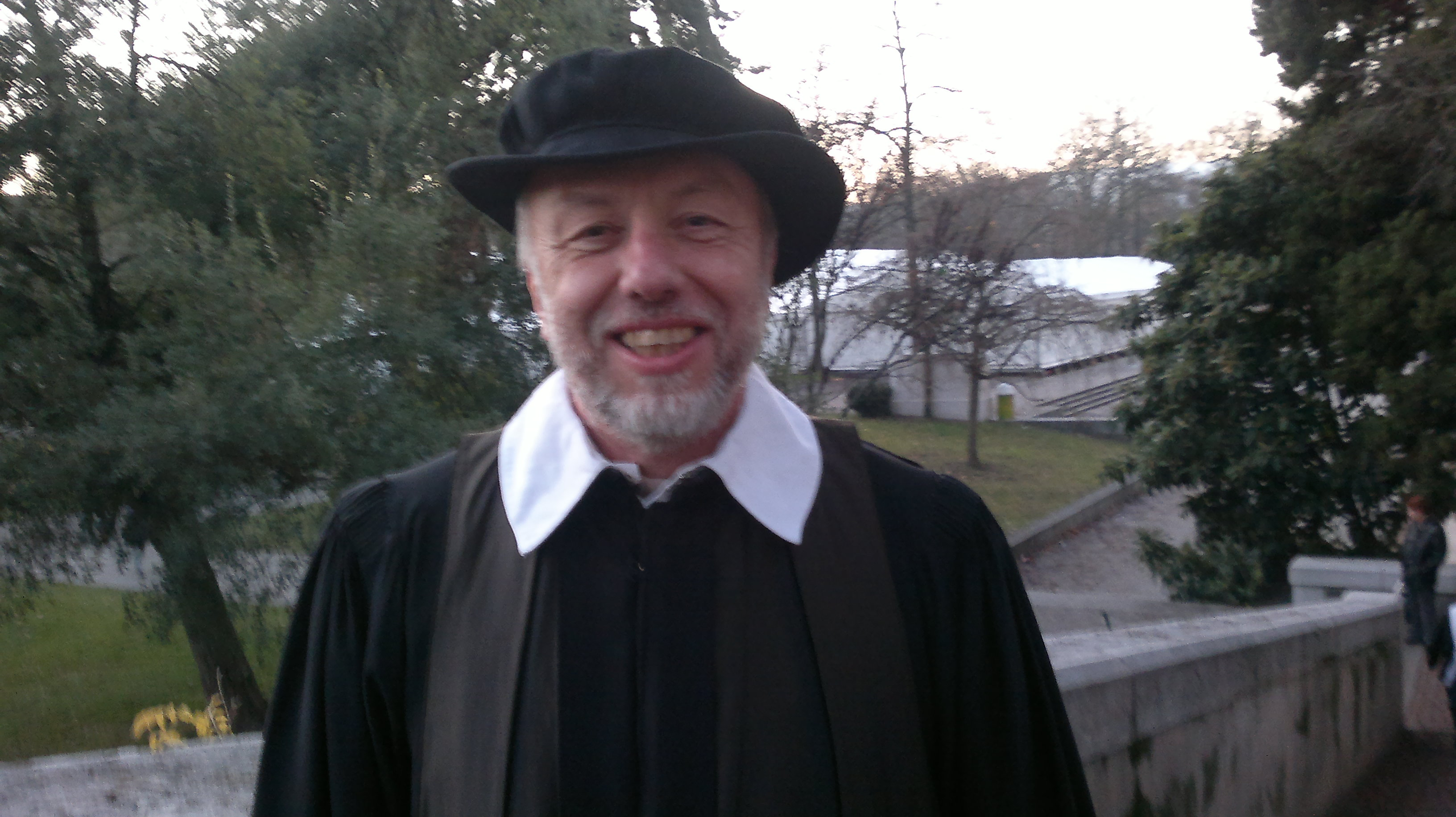 Pierre Baertschi, un Carougeois dans le cortège de l'Escalade. © Maryelle Budry
