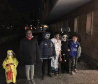 Les petits «zombies» onésiens ne tombent pas les masques