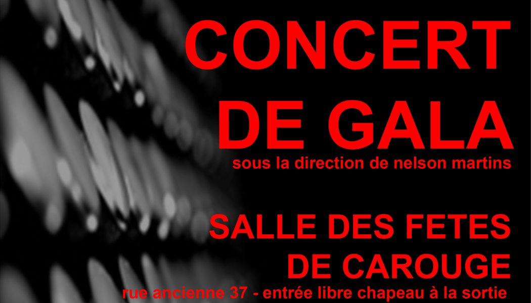 Concert de gala de l'union accordéoniste carougeoise le 18 novembre!