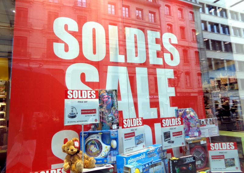 Aux Jouets Weber les SOLDES sont SALE(S)