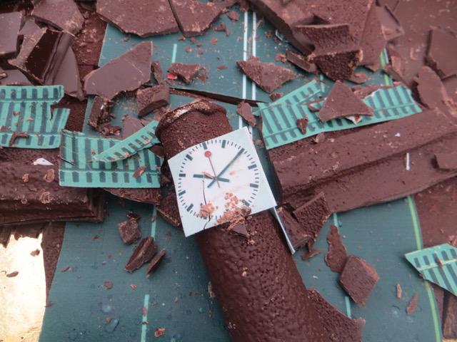 Seule la célèbre horloge CFF a survécu! On doit son design à l'ingénieur Hans Hilfiker, alors employé des CFF,  qui la créa en 1940. © NdM