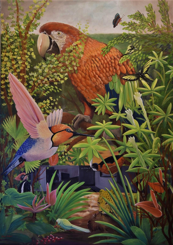 La Villa Vance  Huile sur toile 140 x 100 cm Olivia Sellier