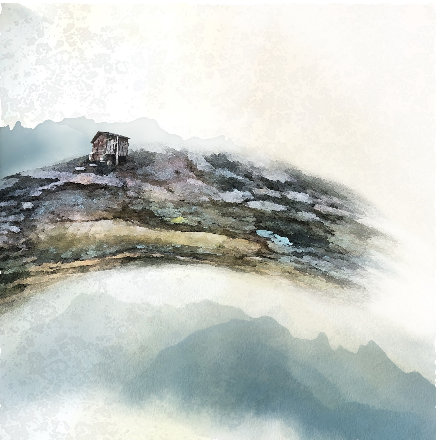 Le raccard  Digigraphie sur toile 60 x 60 cm Jean Perrin