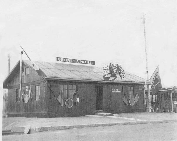 La toute première gare de la Praille vers 1940! DR