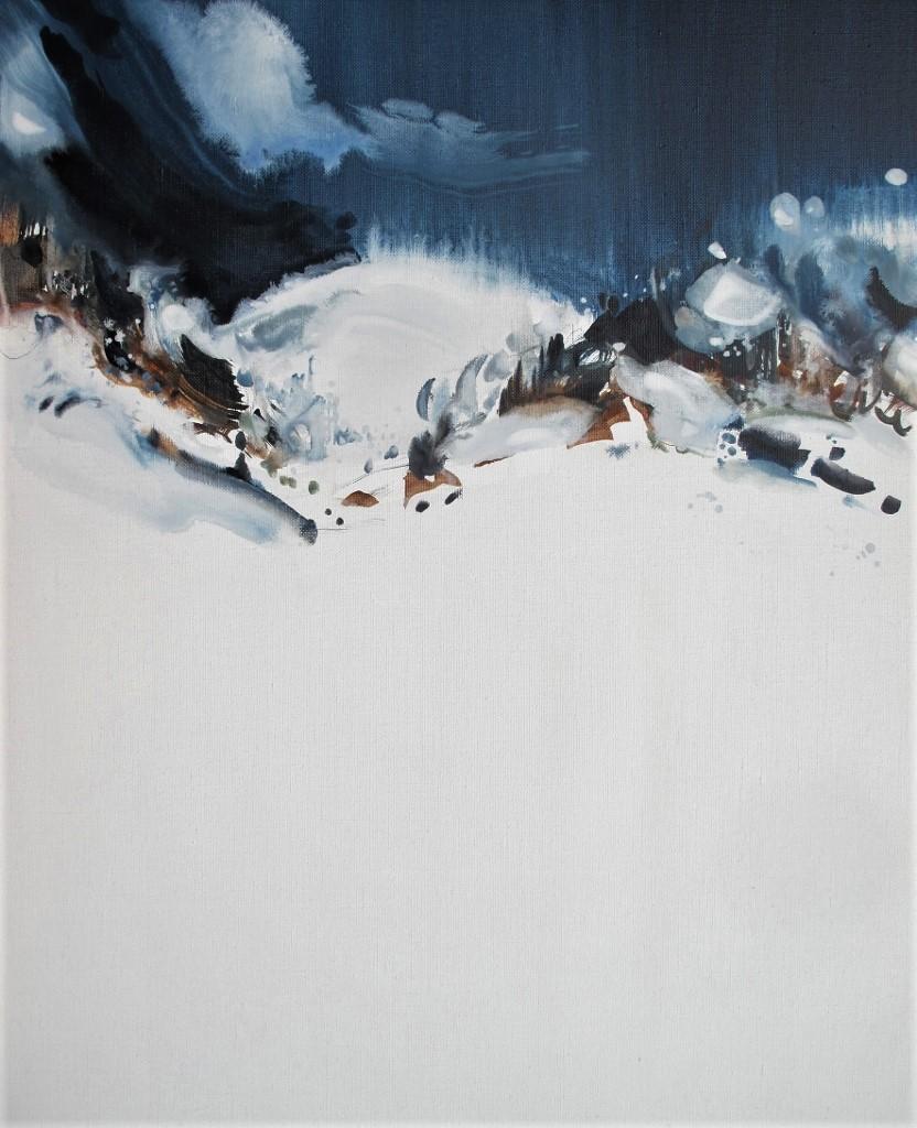 Série entre Air et sur Terre  Acrylique sur toile de lin 61 x 50 cm Stephan Herrgott