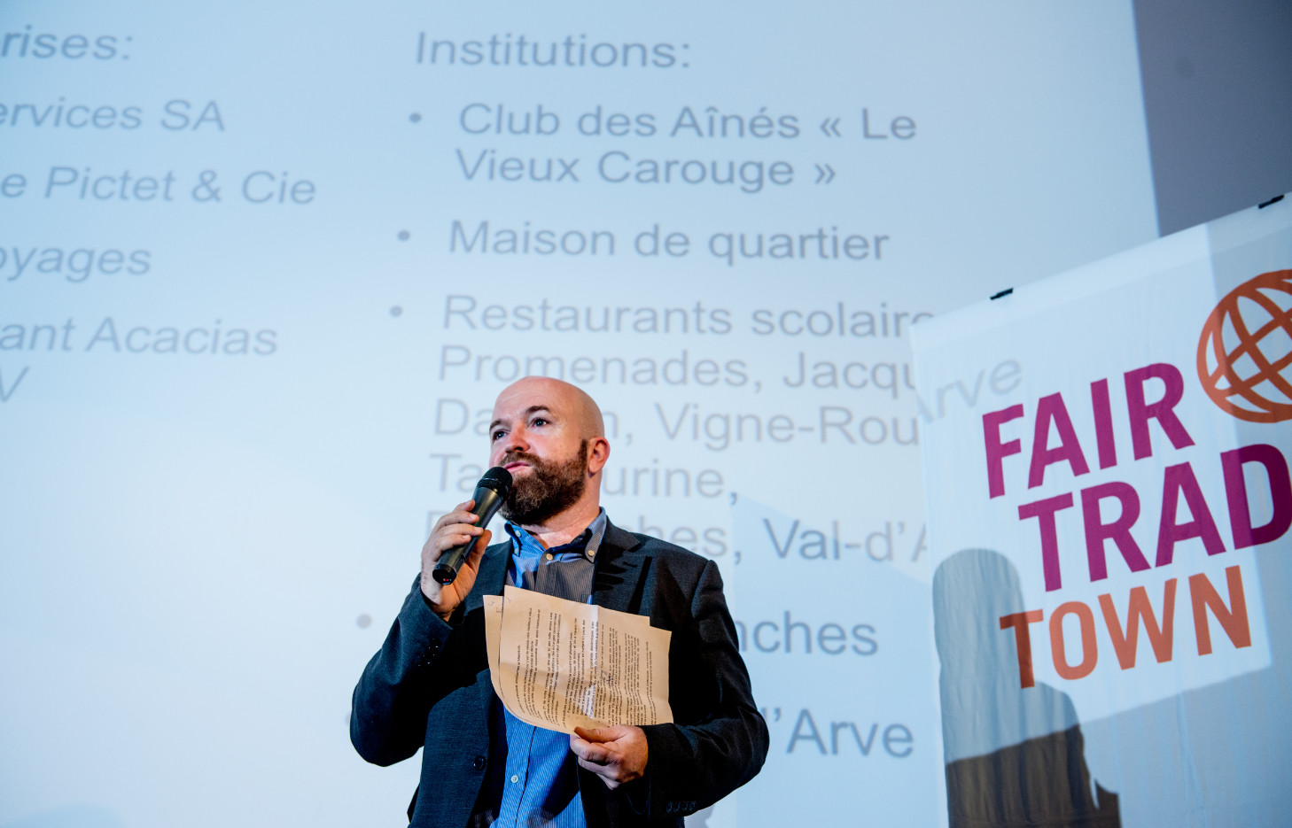 Nicolas Walder au cinéma Bio. © Gaelle Haeny