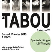 Spectacle bilingue langue des signes / français : Le Tabou