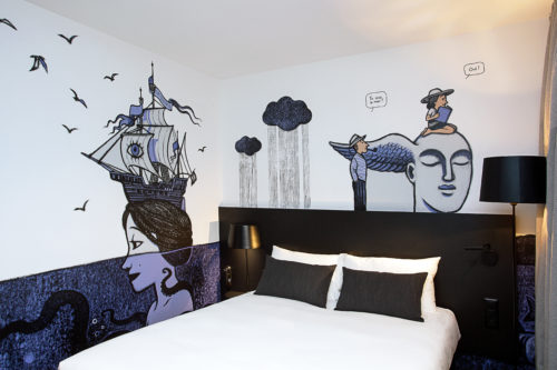 La chambre décorée par Tirabosco