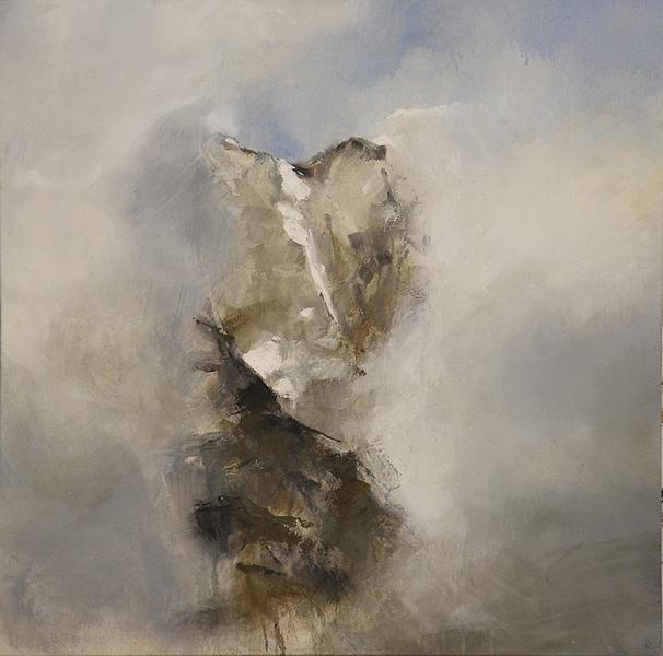 Le ciel s'ouvre  Technique mixte sur toile 80 x 80 cm Christine Zwicky-Lehmann