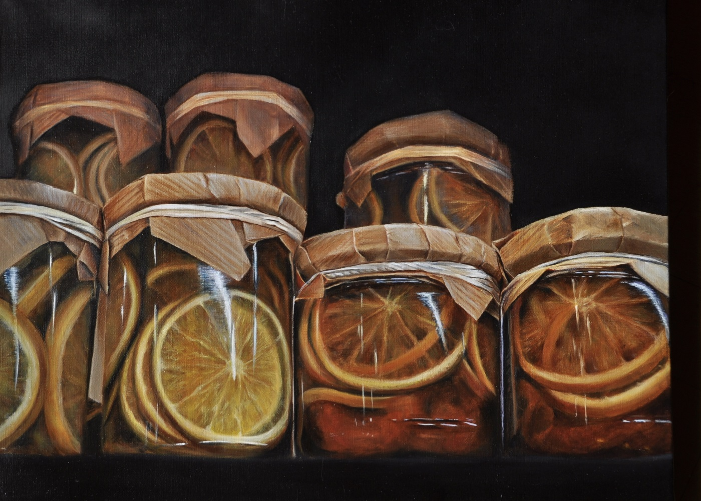 Agrumes Huile sur toile 50 x 65 cm  Colette Plenier-Mudde