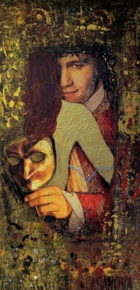 Casanova  Technique mixte sur toile 140 x 70 cm Angelo Garbo