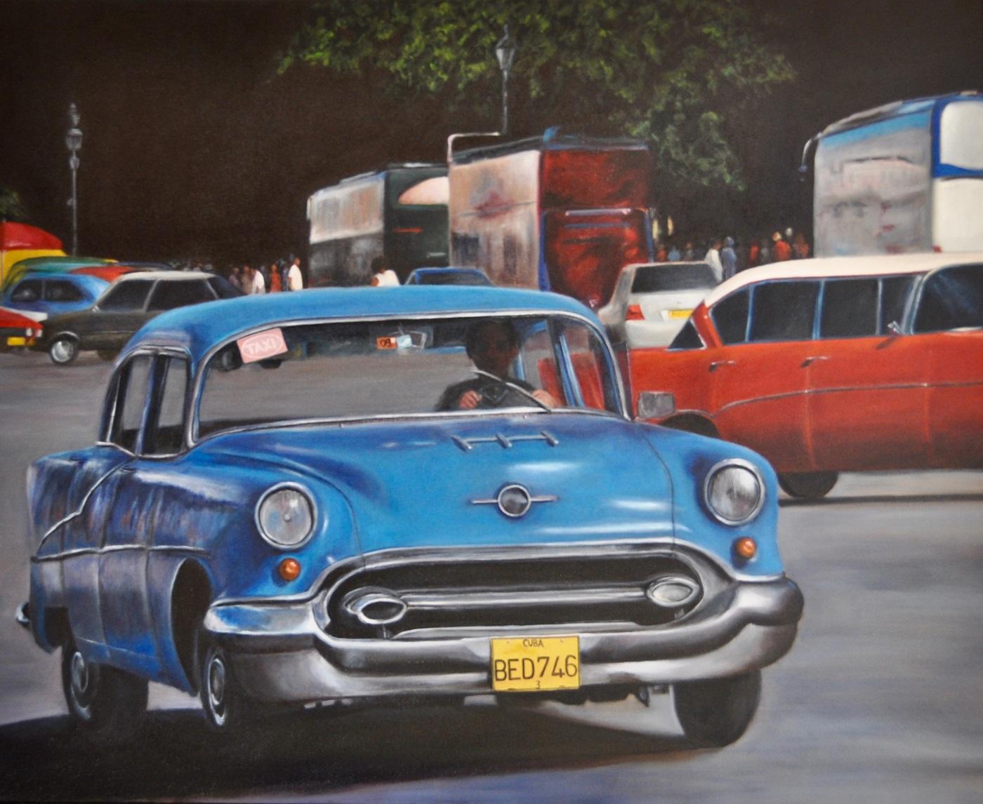 Cuba II Huile sur toile 80 x 100 cm Colette Plenier-Mudde
