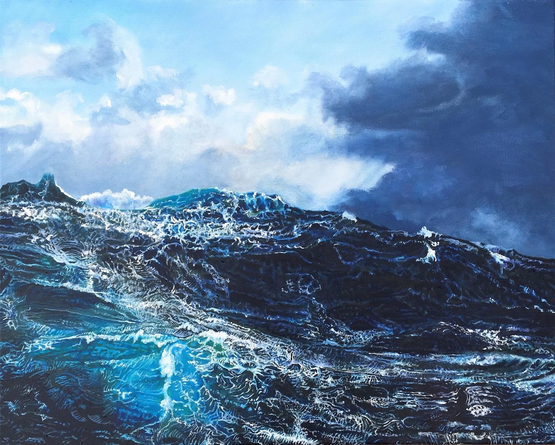 La vague Huile sur toile 60 x 76 cm Gisèle Bryers