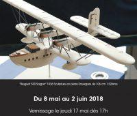 Exposition des avions en pierre (Steve Antonietti) à la Galerie l'Art'monie Genève