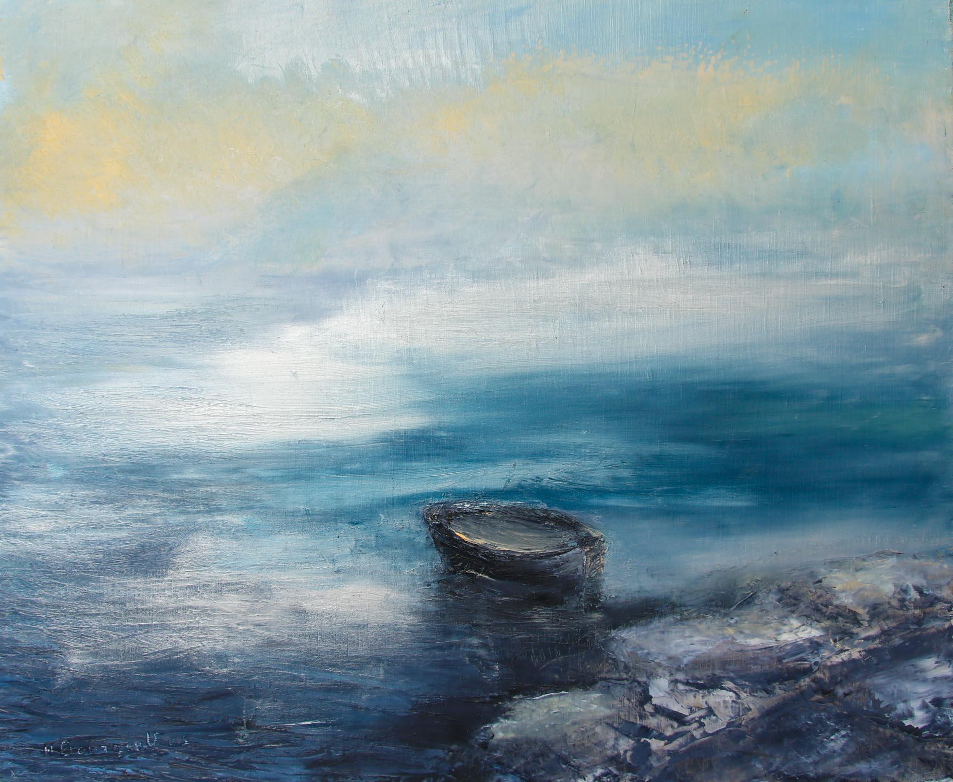 Solitude Huile sur toile 50 x 60 cm Hélène Bourgault